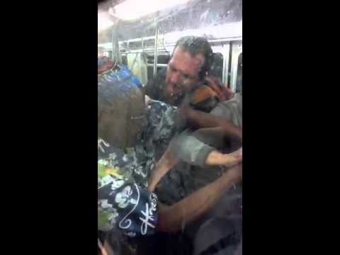 Black on White Beatdown on NYC Subway