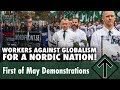 Nordic Resistance Movement May Day demonstrations in the towns of Ludvika and Kungälv