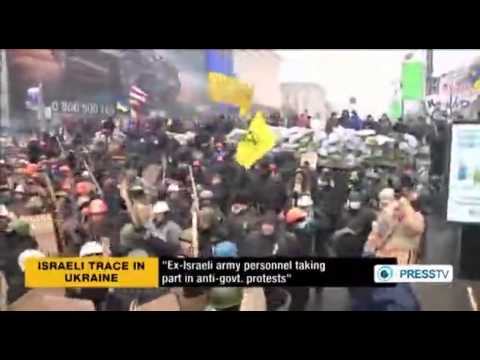 Israeli ex officer leads violent Ukraine protests