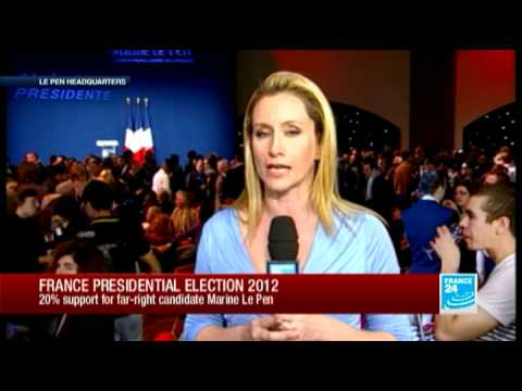 Marine Le Pen Gets 20% of the French Vote