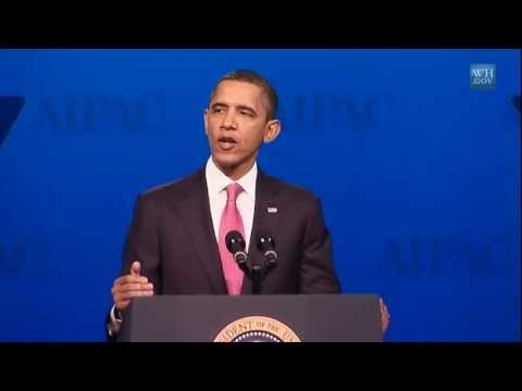 Obama kisses Zionist ass at AIPAC 2012 - Highlights