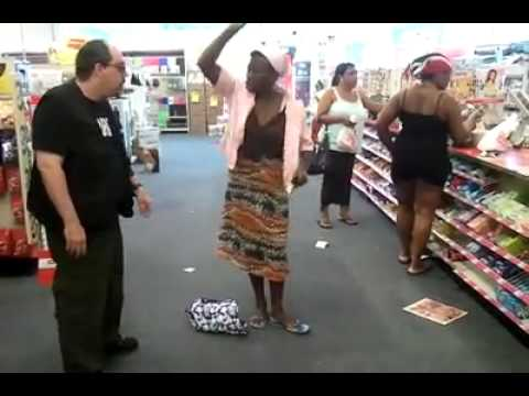 Jamaican rebukes the devil at CVS