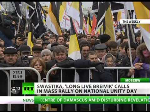 Swastika & 'Long live Breivik': Nationalists march in Moscow