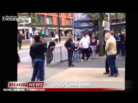 British lads defend lady from black Muslim mob