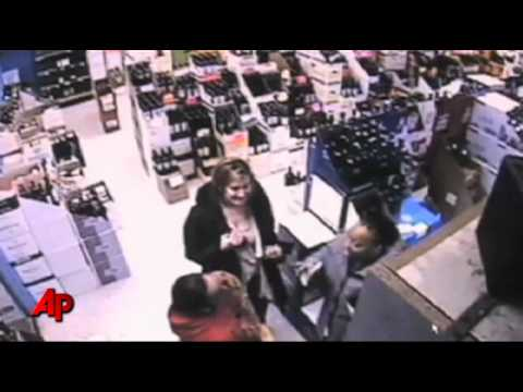 Angry Negress Destroys Liquor at Store